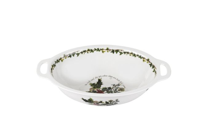 """Portmeirion The Holly and The Ivy Oval Handled Bowl 15"""""""