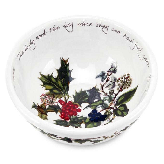 Portmeirion The Holly and The Ivy Oatmeal / Cereal / Soup 5 1/2""