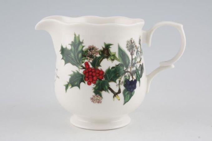 Portmeirion The Holly and The Ivy Milk Jug Wavy rim 1/2pt