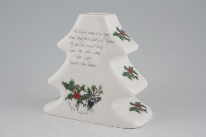 """Portmeirion The Holly and The Ivy Candlestick Christmas Tree Shape 4 3/4"""""""
