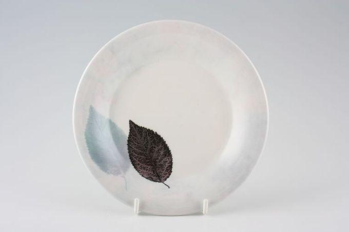 """Portmeirion Dusk Tea / Side / Bread & Butter Plate 2 Leaves at side of plate, Mottled Rim 6 3/4"""""""