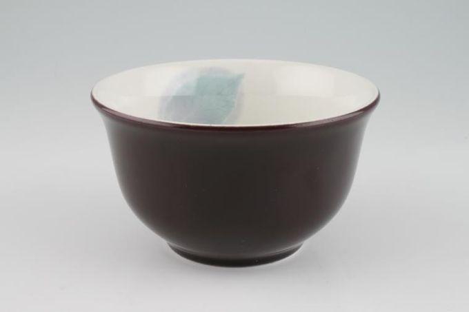 "Portmeirion Dusk Rice / Noodle Bowl Turquoise Leaf inside 5 3/8 x 3"""