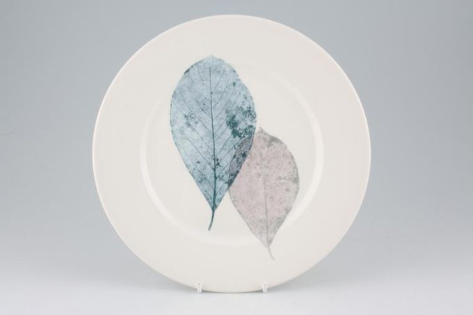 Portmeirion Dusk Breakfast / Salad / Luncheon Plate 2 leaves - Flat, White Rim 9 1/4""