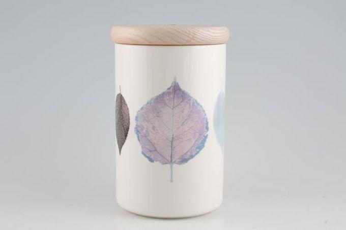 """Portmeirion Dusk Storage Jar + Lid Wooden Lid 4 1/4 x 6 1/2"""""""