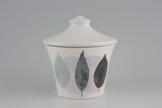 Portmeirion Dusk Sugar Bowl - Lidded (Tea) Pattern 1, Plain white lid
