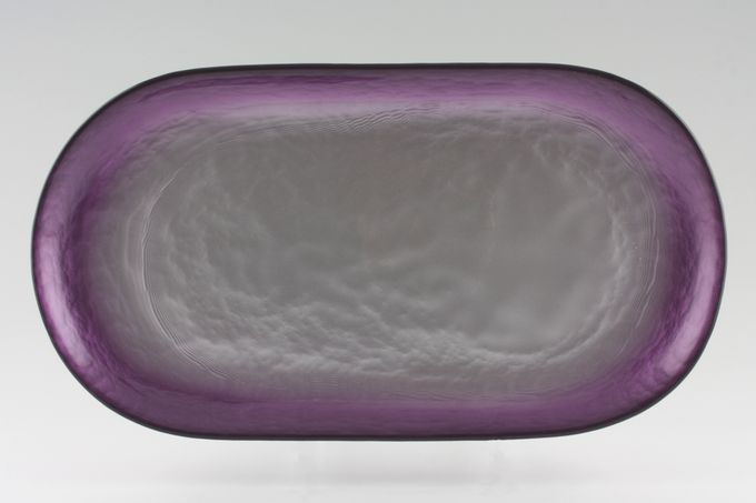 """Portmeirion Dusk Sandwich Tray Glass 14 1/4 x 7 5/8"""""""