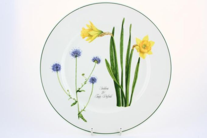 """Portmeirion Welsh Wild Flowers Dinner Plate Scabious & Tenby daffodil 10 3/4"""""""