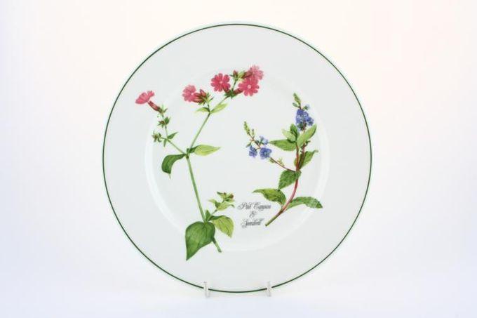 """Portmeirion Welsh Wild Flowers Starter / Salad / Dessert Plate Pink Campion & Speedwell 8 1/2"""""""