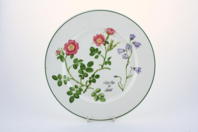 Portmeirion Welsh Wild Flowers Starter / Salad / Dessert Plate Dog rose & Harebell 8 1/2""