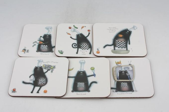 Portmeirion Splat Coaster Splat - Well Done - Box of 6 4""