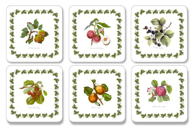 Portmeirion Pomona Coasters - Set of 6