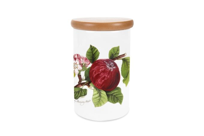 Portmeirion Pomona Storage Jar + Lid Apple 4 1/4 x 6 1/4""