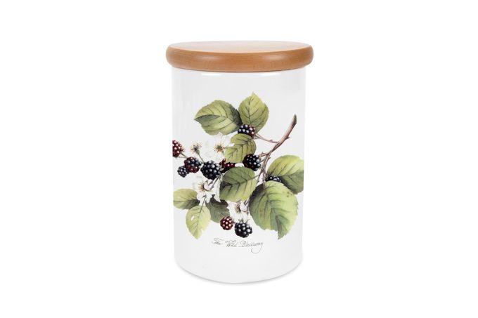 """Portmeirion Pomona Storage Jar + Lid Blackberry 4 1/4 x 6 1/4"""""""