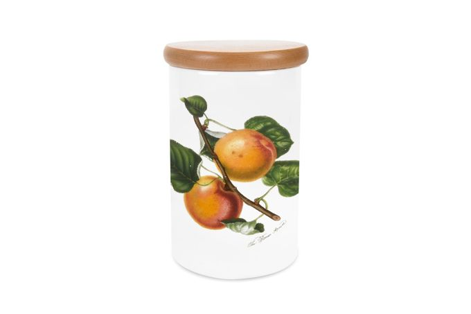 """Portmeirion Pomona Storage Jar + Lid Apricot 4 1/4 x 6 1/4"""""""