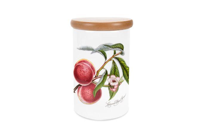 """Portmeirion Pomona Storage Jar + Lid Peach 4 1/4 x 6 1/4"""""""