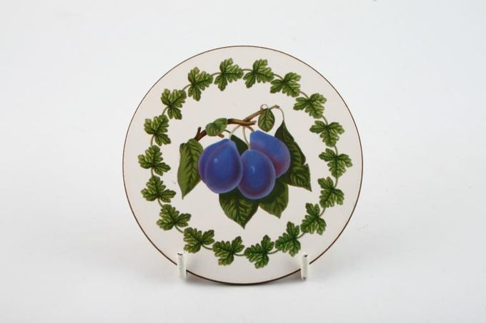 Portmeirion Pomona - Older Backstamps Coaster Cork - L'Imperatrice Plum 3 3/4""
