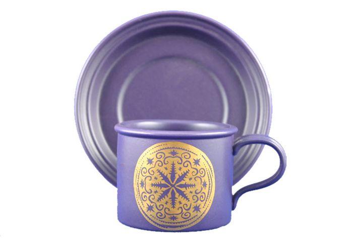 Portmeirion Medallion - Purple and Gold