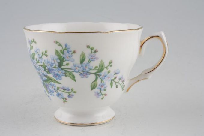 Queen Anne Forget - Me - Not Teacup 3 3/8 x 2 3/4""