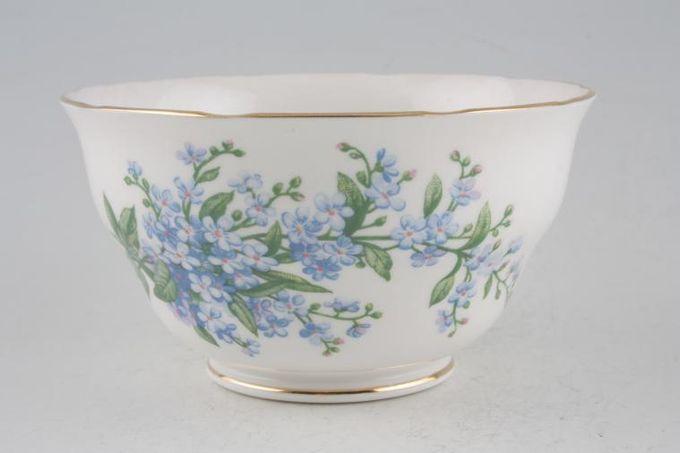 "Queen Anne Forget - Me - Not Sugar Bowl - Open (Tea) 4 3/8"""
