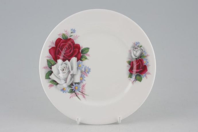 Queen Anne White China with Red and White Roses