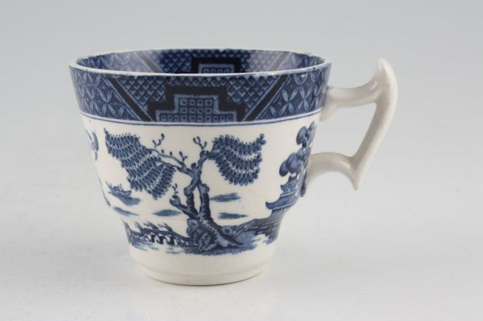 """Booths Real Old Willow - No Gold Coffee Cup 2 3/4 x 2 1/4"""""""