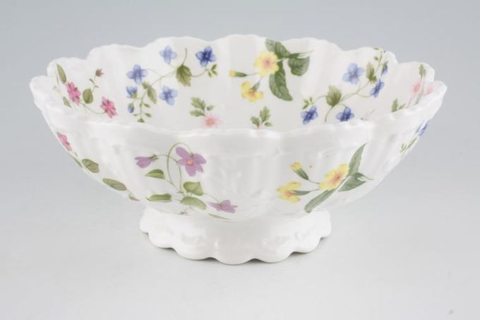 """Queens Country Meadow Bowl (Giftware) Footed 8 3/4"""""""