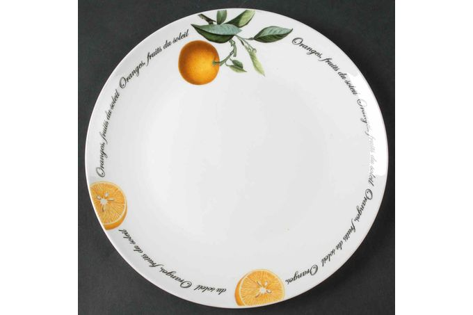 "Queens Fruits Du Soleil Breakfast / Lunch Plate oranges 8 3/4"""