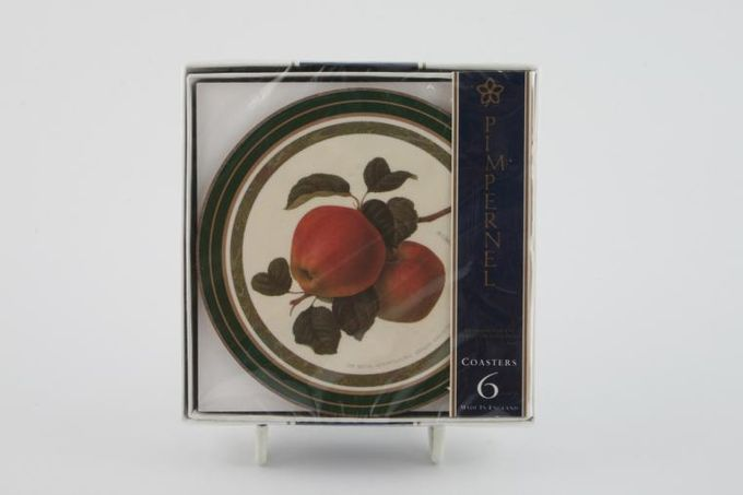Queens Hookers Fruit Coaster Round - Box of 6- Cork Backed 4""