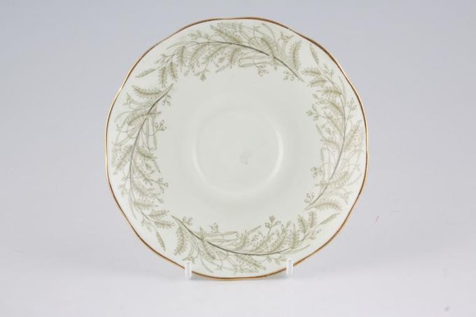 """Roslyn Whispering Grass - no Red Flowers Tea Saucer 5 1/2"""""""