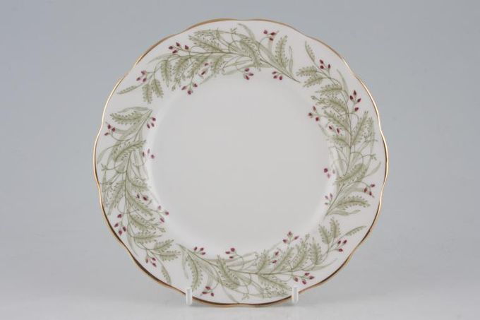 """Roslyn Whispering Grass - with Red Flowers Tea / Side / Bread & Butter Plate 6 1/2"""""""