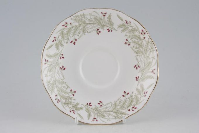 Roslyn Whispering Grass - with Red Flowers Tea Saucer 5 5/8""