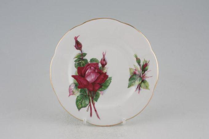 """Roslyn Harry Wheatcroft Roses - Grand Gala Tea / Side / Bread & Butter Plate 6 1/4"""""""