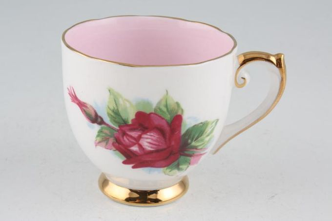 """Roslyn Harry Wheatcroft Roses - Grand Gala Coffee Cup 2 3/4 x 2 1/2"""""""