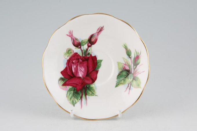 """Roslyn Harry Wheatcroft Roses - Grand Gala Coffee Saucer 5"""""""