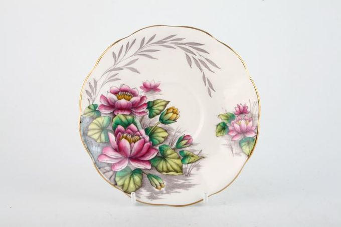 Royal Albert Flower of the Month Series - Hand Painted - Water Lily No.7 Tea Saucer 5 1/2""