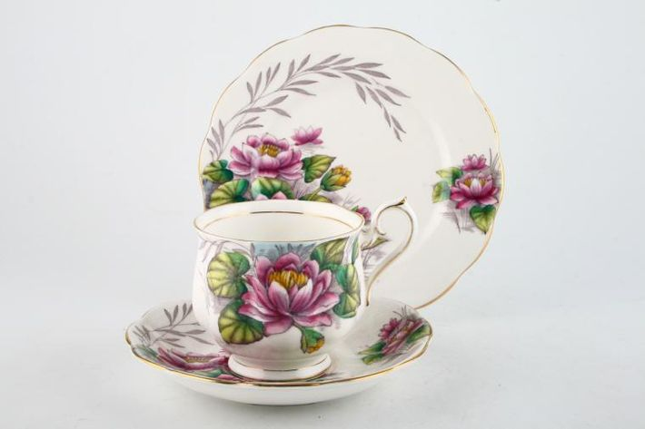 Royal Albert Flower of the Month Series - Hand Painted - Water Lily No.7