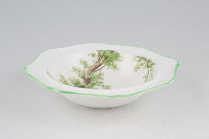 "Royal Albert Greenwood Tree - Green Edge - Octagonal Rimmed Bowl 6 3/8"""