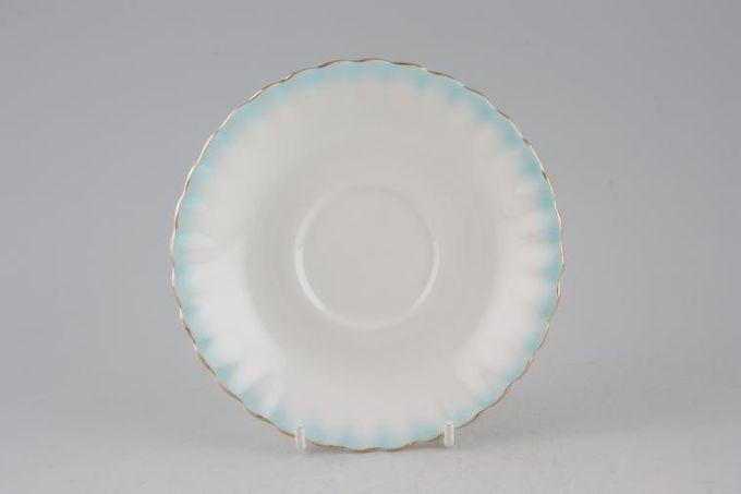 "Royal Albert Rainbow - Montrose Shape Tea Saucer Azure 5 5/8"""