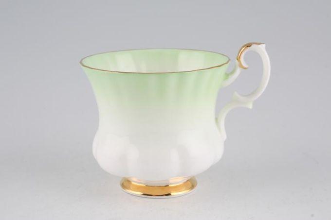 "Royal Albert Rainbow - Montrose Shape Coffee Cup Green 2 3/4 x 2 1/2"""