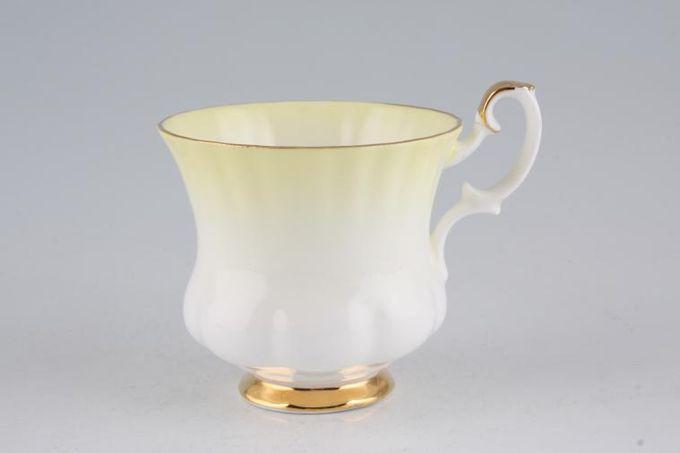 "Royal Albert Rainbow - Montrose Shape Coffee Cup Yellow 2 3/4 x 2 1/2"""