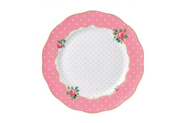 Royal Albert Cheeky Pink Dinner Plate Vintage Shape 27cm