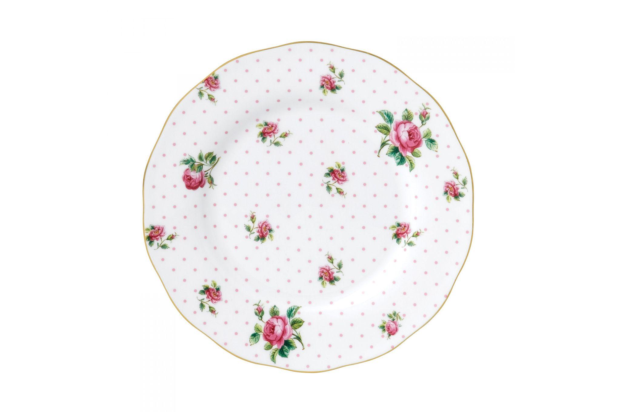 Royal Albert Cheeky Pink Starter / Salad / Dessert Plate Vintage Shape 20cm thumb 1