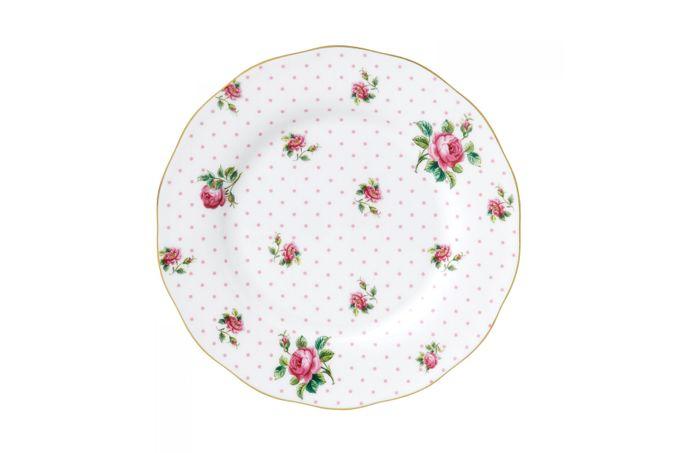 Royal Albert Cheeky Pink Starter / Salad / Dessert Plate Vintage Shape 20cm