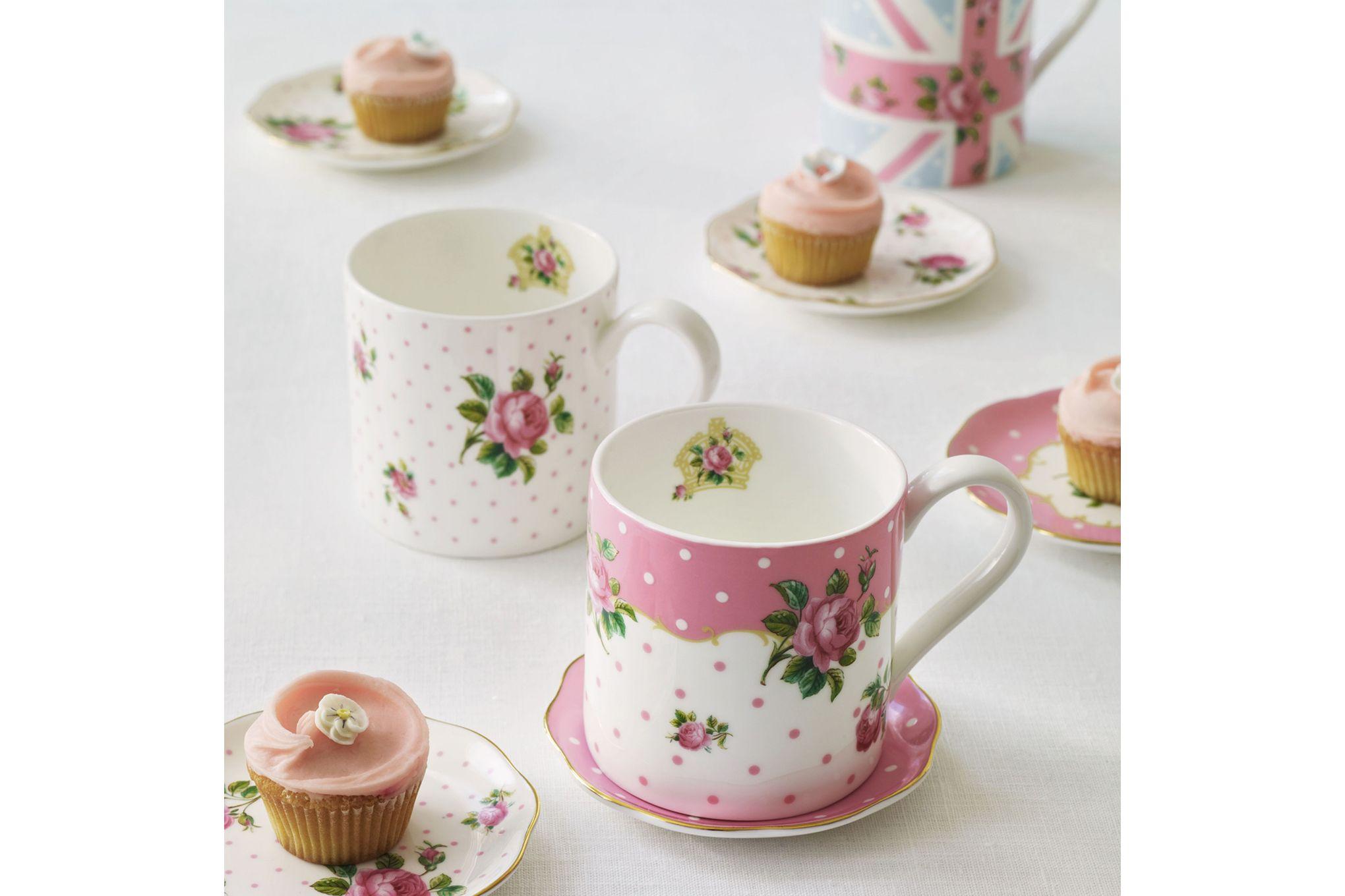 Royal Albert Cheeky Pink Mug Pink Roses - Modern Mug thumb 2