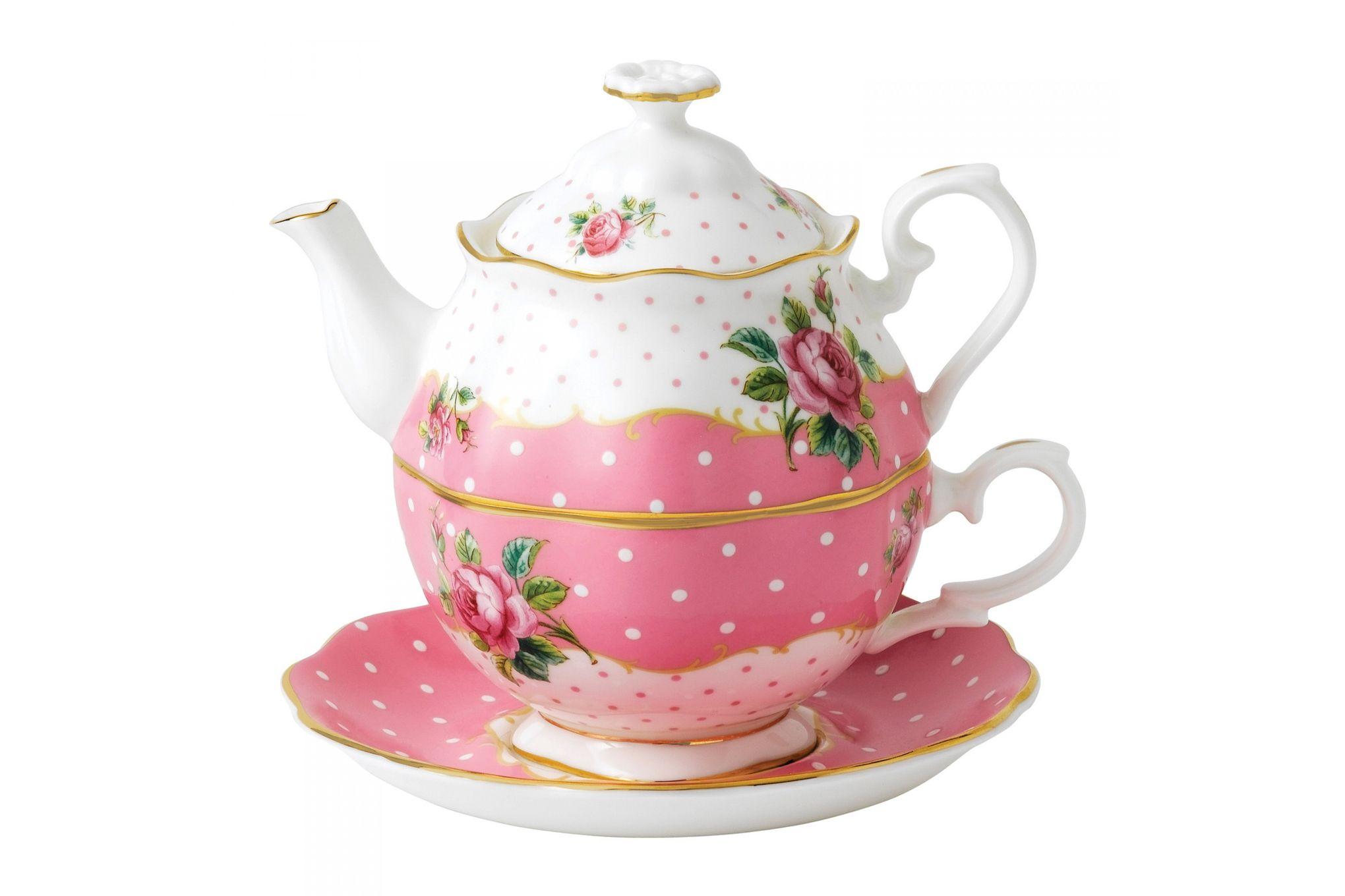 Royal Albert Cheeky Pink Tea For One Vintage Shape - Gift Boxed thumb 1