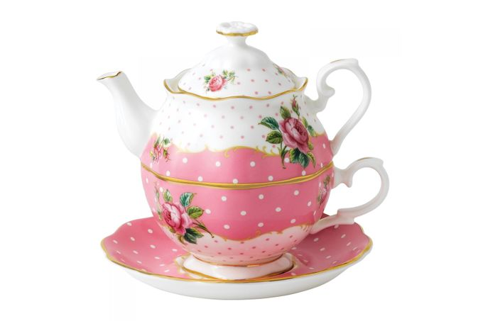 Royal Albert Cheeky Pink Tea For One Vintage Shape - Gift Boxed