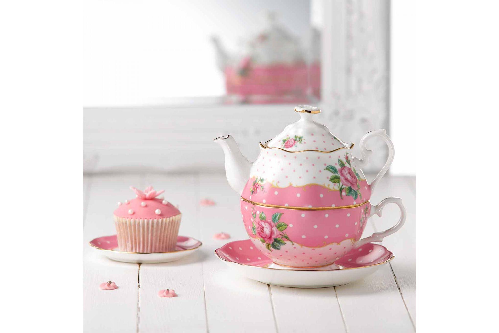 Royal Albert Cheeky Pink Tea For One Vintage Shape - Gift Boxed thumb 3
