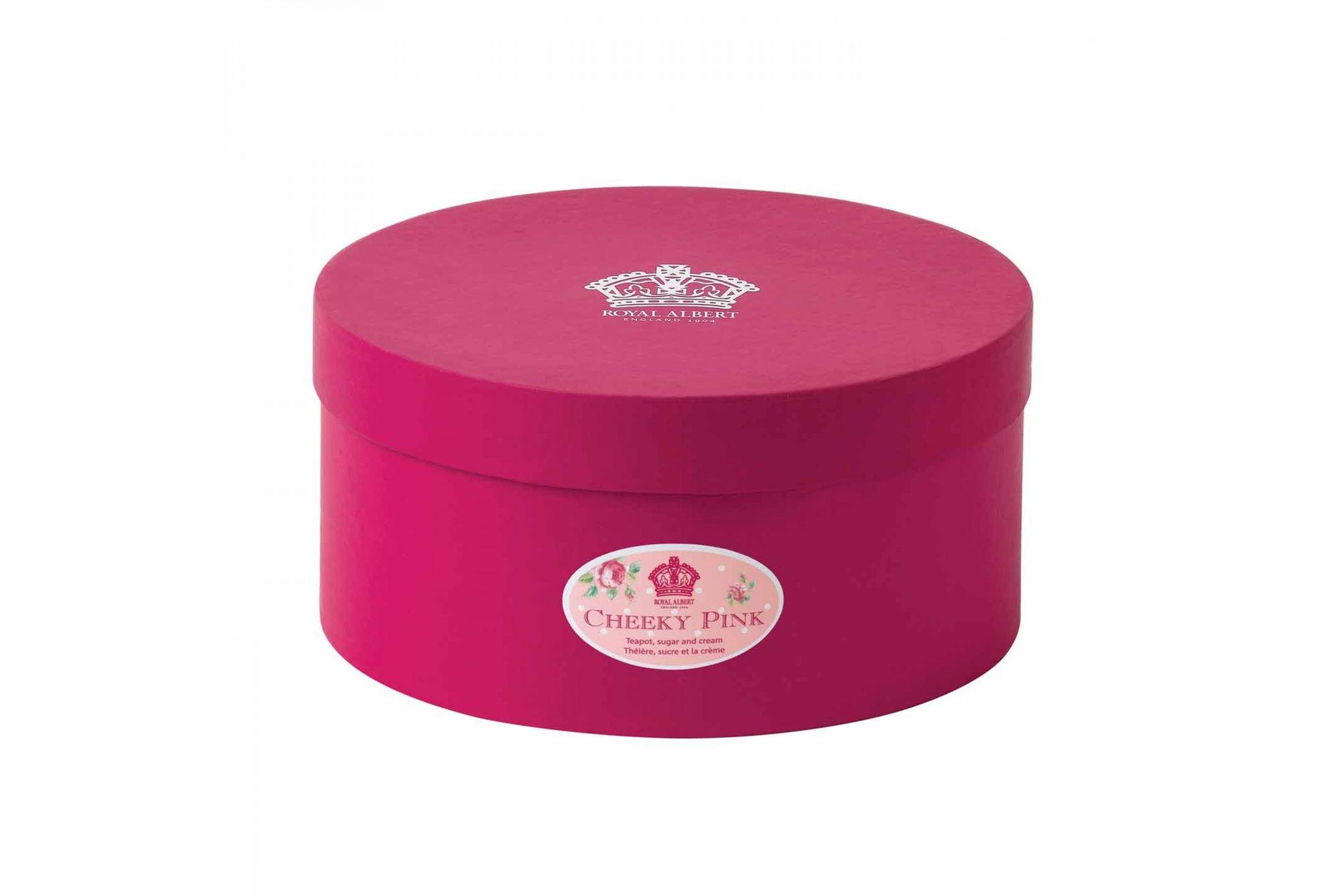 Royal Albert Cheeky Pink Teapot, Sugar and Cream Set Cheeky Pink - 3pc thumb 2