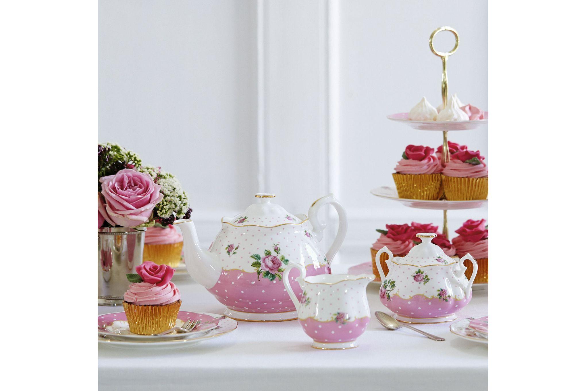 Royal Albert Cheeky Pink Teapot, Sugar and Cream Set Cheeky Pink - 3pc thumb 3