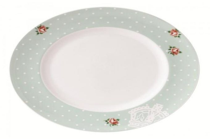 Royal Albert Polka Rose Dinner Plate Modern 27cm